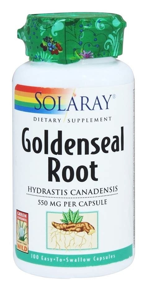 Golden Root Detox by Buy Solaray Goldenseal Root 550 Mg 100 Capsules At