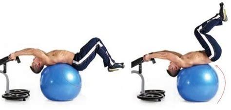swiss ball reverse crunch great abdominal core