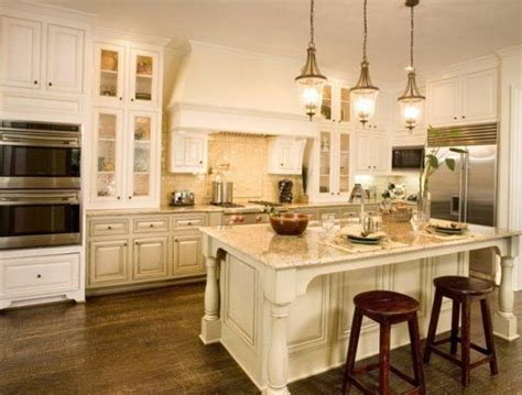 Antique White Kitchen Cabinets Back To The Past In White Antique Kitchen Cabinets