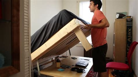 desk transforms into bed urbandesk transforms from a full size desk to full size