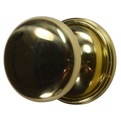 brass door knob traditional polished brass finish