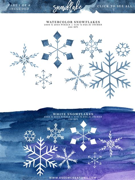 snowflakes wallpaper christmas cards glass art holiday watercolor snowflakes clipart winter graphics 5x7