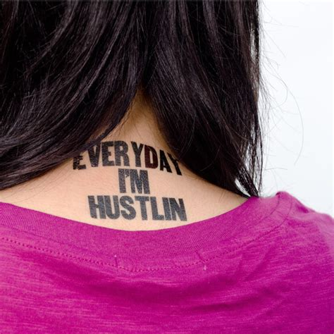 hustlin tattoo designs everyday i m hustlin temporary by tattly 187 petagadget