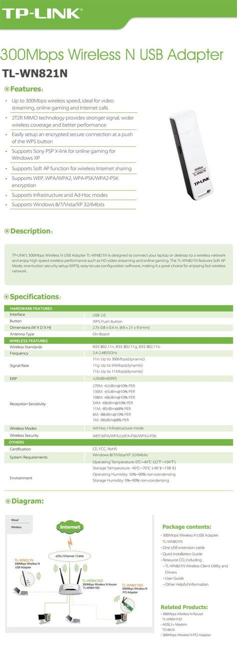 Wireless N Usb Adapter Tl Wn821n tp link tl wn821n 300mbps wireless n usb adapter tl