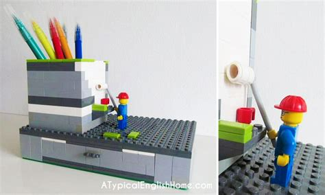 lego desk organizer 21 insanely cool diy lego furniture and home decor