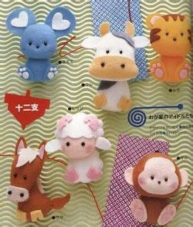 free pattern small felt animals cute felt animals animal felt doll plushies ideas