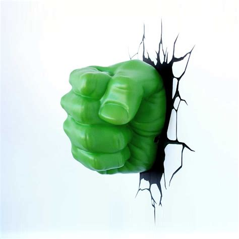 Girls Wall Stickers For Bedrooms marvel avengers hulk fist 3d led wall light new stickers