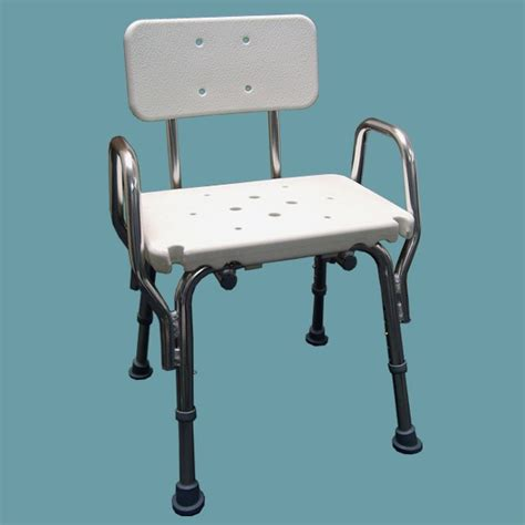 Shower Chair With Arms by Snap N Save Shower Chair With Arm Rests And Back