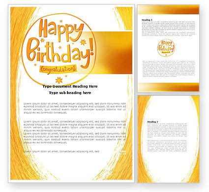 happy birthday card word template 07278 poweredtemplate com