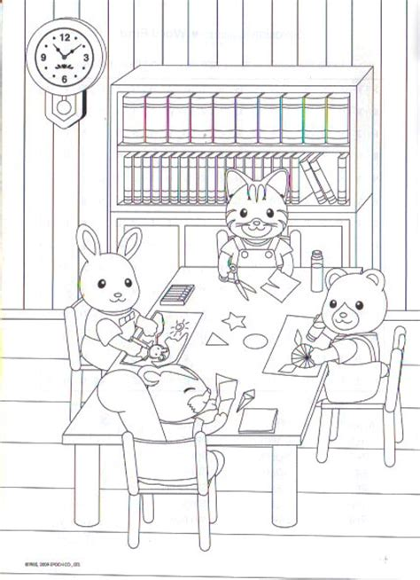 Calico Critters Coloring Pages Sylvanian Families Calico Critters Coloring Pages