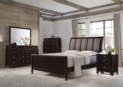 coaster bedroom furniture coaster madison upholstered bedroom set dark merlot