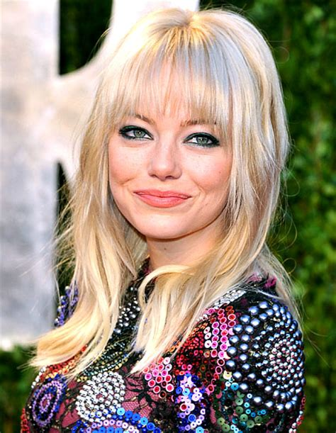emma stone platinum blonde spring hair color trends small towns city lights