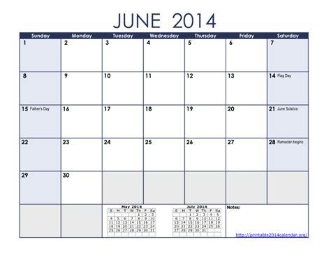 Calendar June 2014 Calendar June Quotes Quotesgram