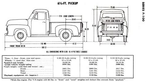 standard truck bed size 53tdims0004 jpg 993 215 559 my 53 f 100 pinterest a well trucks and wells