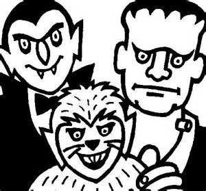 halloween characters coloring page coloringcrew com