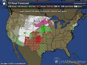 Weather Radar Map For The United States by United States Weather Map Today