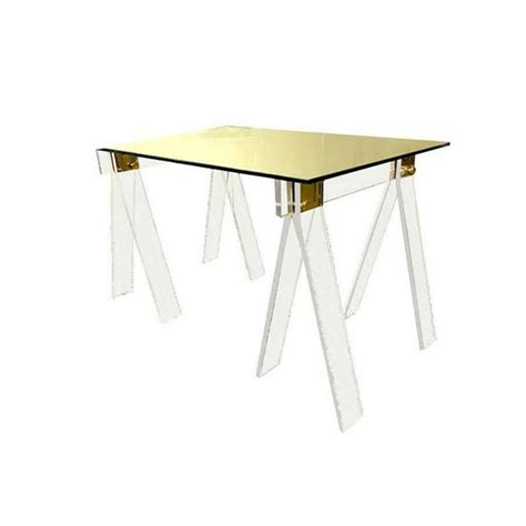 chrome sawhorse table legs lucite sawhorse table legs mi vida vintage