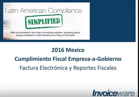 legislacin fiscal 2016 vigente de iva en mexico impuestos electr 243 nicos software para la presentaci 243 n