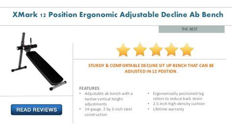 xmark 12 position ergonomic adjustable decline ab bench xmark 12 position ergonomic adjustable decline ab bench