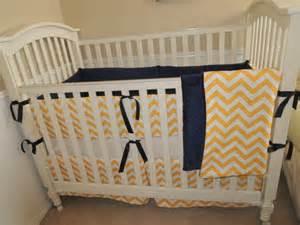 Chevron Baby Bedding Etsy Navy And Yellow Chevron Baby Bedding Set