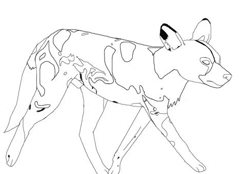african wild dog coloring pages sketch coloring page