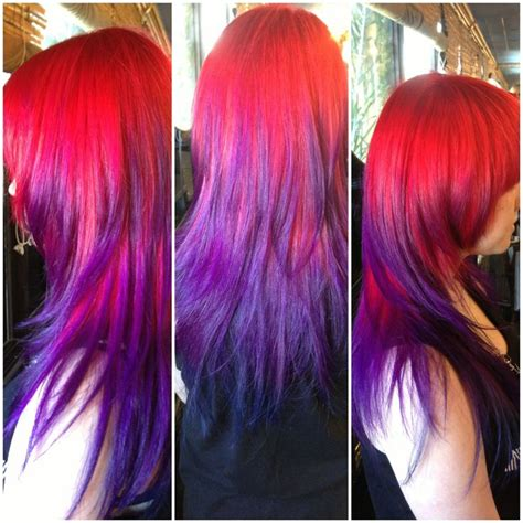 red purple this red purple ombre