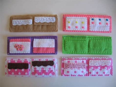 pattern felt wallet yummy snacks felt wallet pattern gifts pinterest
