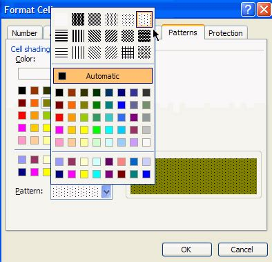 color pattern exle how to add a background color or pattern to excel cells