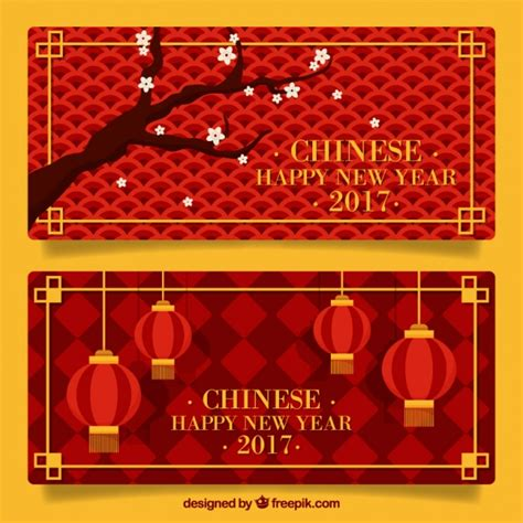 new year banner vector new year banners with geometric backgrounds vector