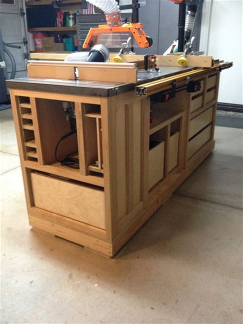 cabinet table saw table saw cabinet by lorin lumberjocks woodworking community
