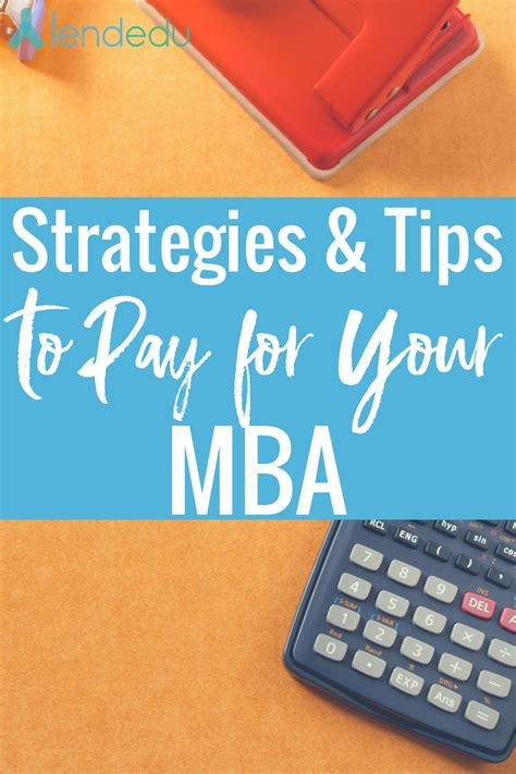 Mba Need Based Financial Aid by How To Pay For An Mba Strategies Tips Lendedu