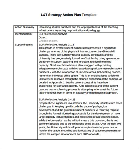 strategy summary template sle strategic plan 9 documents in pdf word