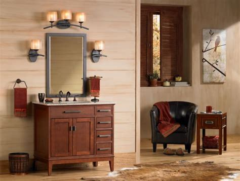 Mission Style Bathroom Lighting Omega Arts And Crafts Vanity Cabinet