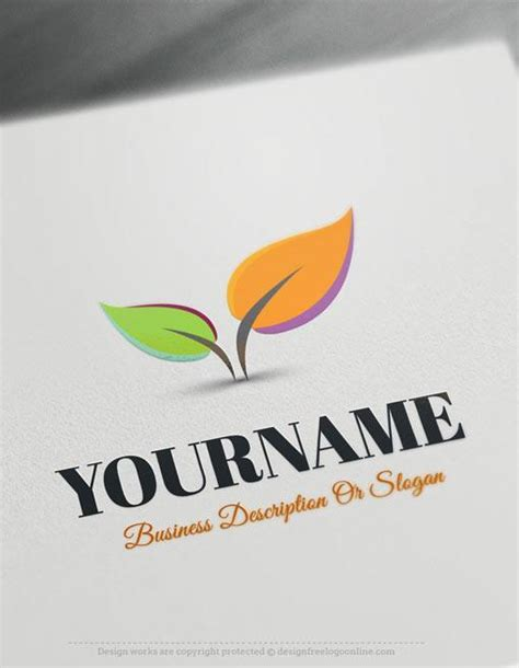 design a custom logo free online design free logo colorful leaves online logo template
