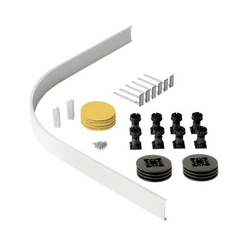 Easy Plumb Shower Tray Kit by Mx Curved Quadrant Easy Plumb Panel Riser Kit Mxwdj