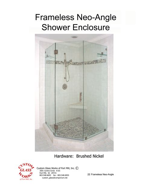 Custom Neo Angle Shower Doors Custom Glass Works Of Fort Mill Sc Serving And South Carolina