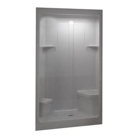 bathroom shower stalls lowes lowes home improvement shower stalls aqua glass 48 quot w x