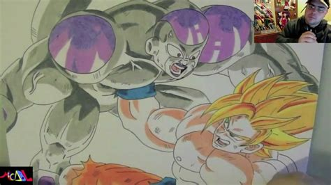 imagenes de goku vs frezer dibujando a goku vs freezer youtube