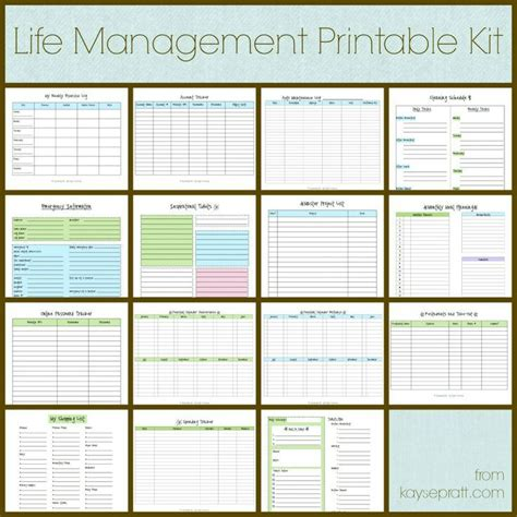 printable calendar kit life management printable kit includes these 15 printables