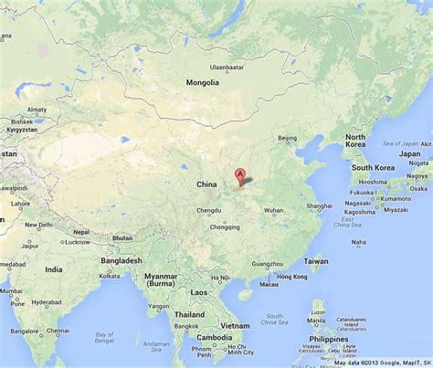 xian  map  china