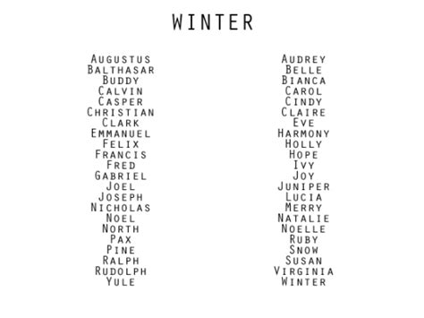 themes for names of horses season inspired names from anomalously written on tumblr