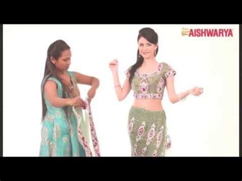 ghagra style saree draping how to drape a ready ghagra style saree youtube