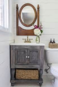 white diy bathroom vanity featuring shades of blue