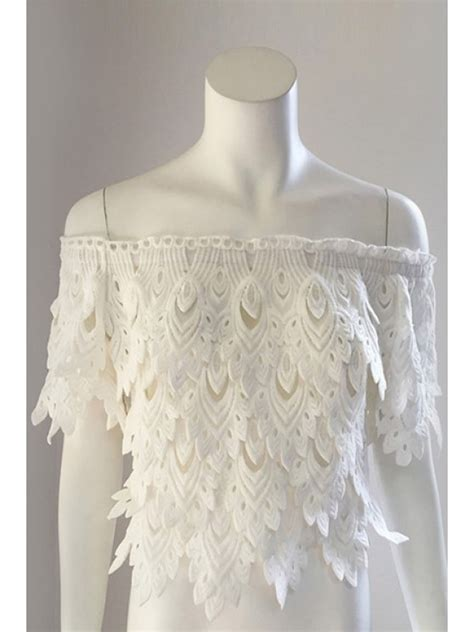 Leaf Pastel Blouse White slash neck leaves pattern solid color blouse white blouses one size fit size xs to m zaful