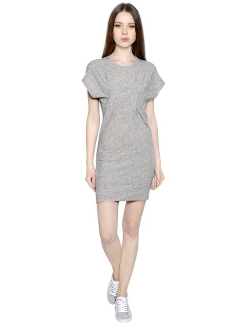 grey cotton dress iro light cotton wool knit dress in gray light grey lyst