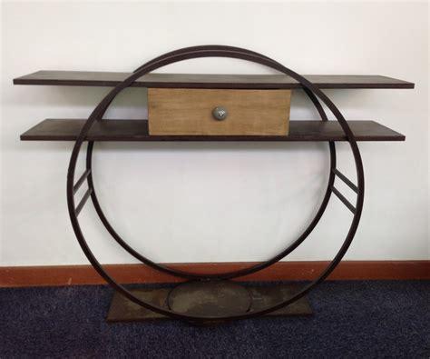 Online Design Software console design en metal avec un tiroir bois massif