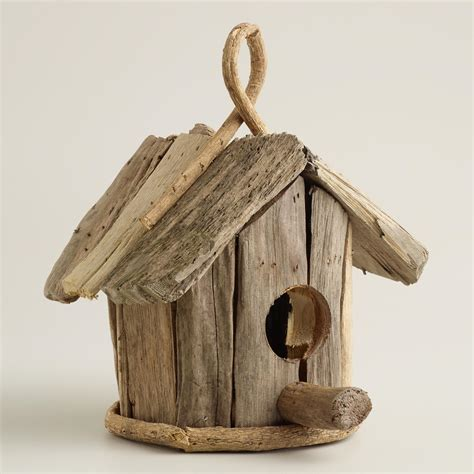bird home decor driftwood bird house decor world market