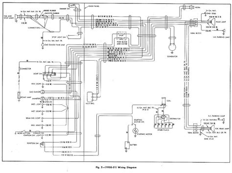 complete wiring diagram of 1950 1951 chevrolet