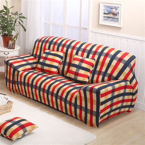 buy sofa cover aliexpress com buy plaid sofa cover leather sofa