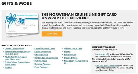 Norwegian Gift Card - 用 gift card 讓親朋好友的郵輪行程更豐富 非達人自助遊輪筆記